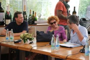 with Ornella Vanoni, press conference 2013