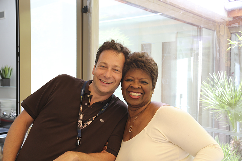 Nicolas Gilliet with Irma Thomas